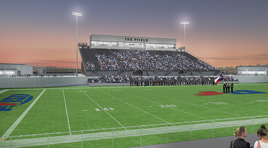 Pflugerville High School stadium The Pfield
