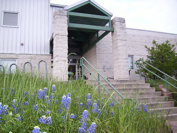 Recreation Center front door