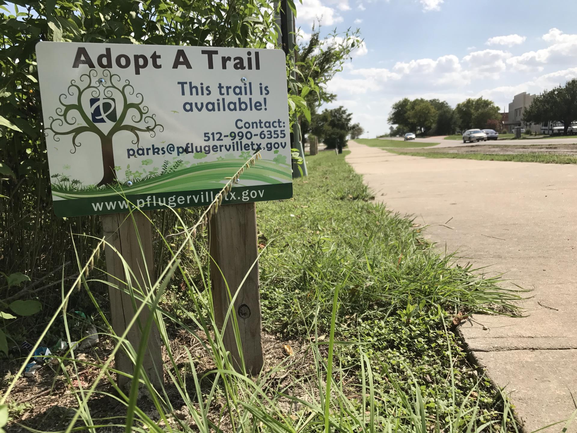 Adopt a trail sign 1