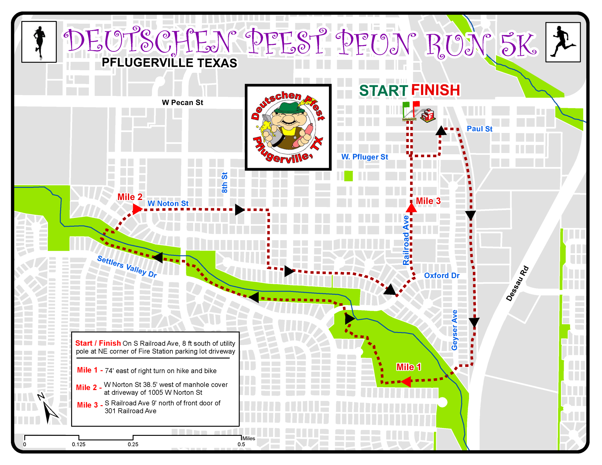 Deutschen Adults Pfun Run Route
