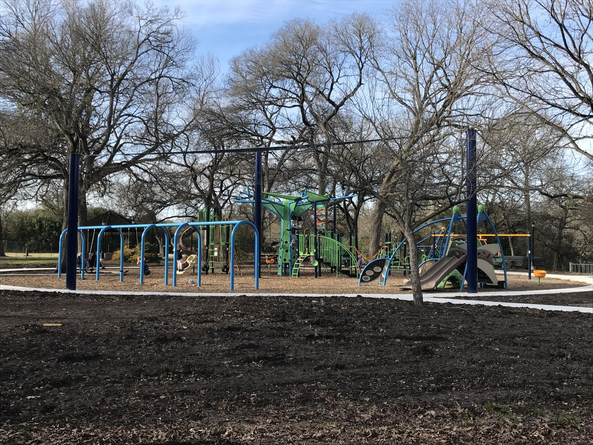 Pfluger Park Playground Construction